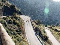 Tramo de carretera en bicicleta