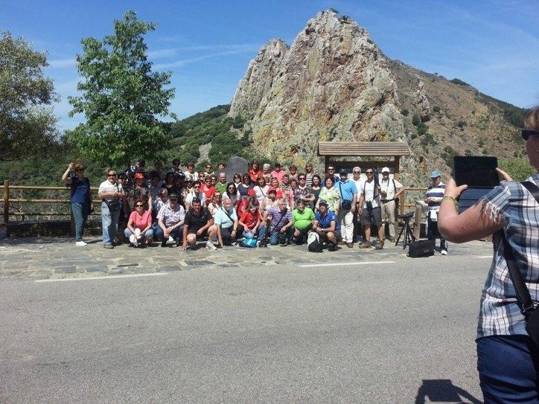 grupo antes de la ruta