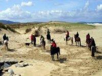 Ruta caballo por playa Baldaio, Caion o Barrañán