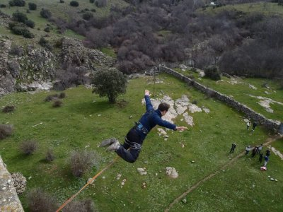 Bungee jumping a Madrid e San Isidro zip line speciale