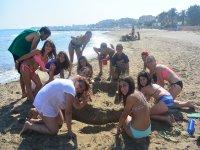 Gymkanas en la playa