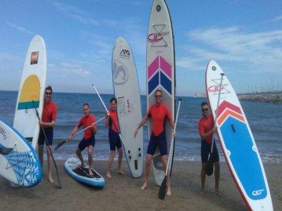 在瓦伦西亚1小时用桨材冲浪课程