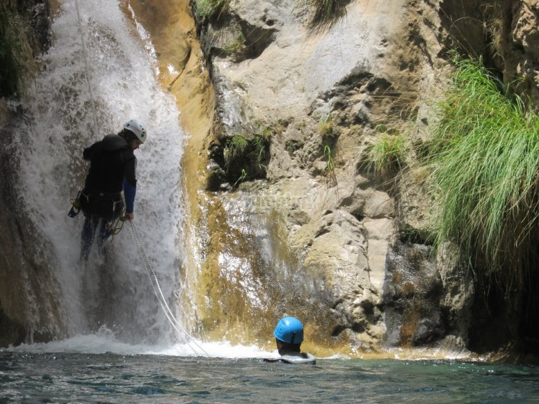 Canyoning with water