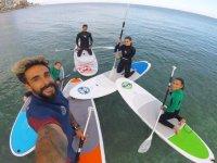 Gran día practicando paddle surf