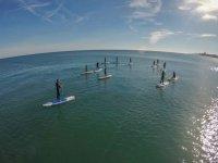 Practicando paddle surf en Benalmadena