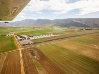 Navarra's airfield from the aircraft