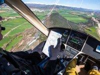 Reviewing the flight plan in Navarra