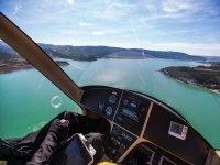 Flying over Navarra's river
