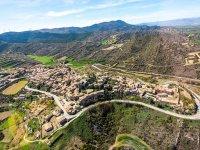 Vista aerea del pueblo navarro