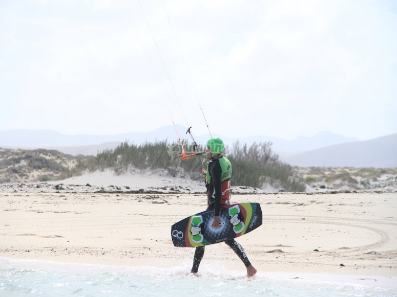 准备风筝冲浪