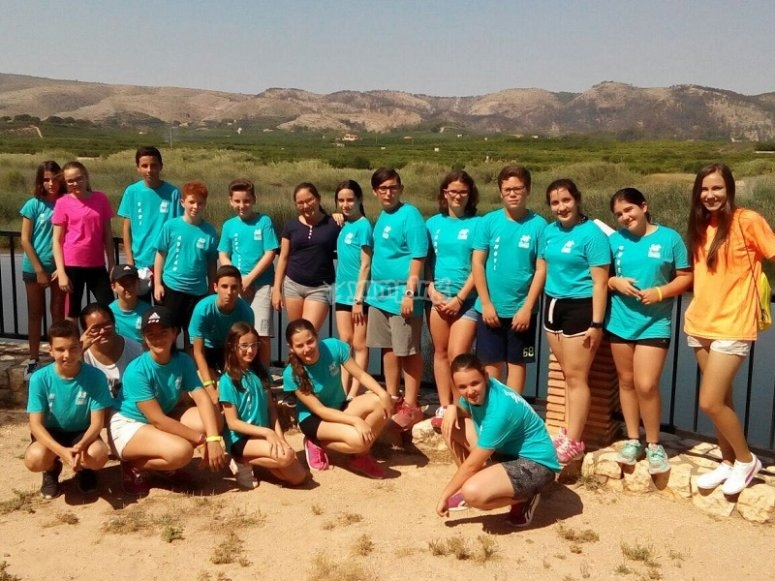 Participantes del campamento
