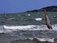 在塔里滑浪风帆在塔里风帆在加的斯