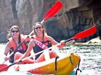 Snorkel en Denia con kayak y espéleo 3 horas
