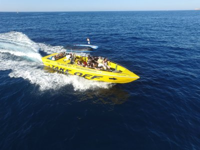 Speed boat trip in the Ibiza Shore
