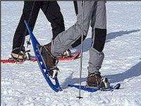 Snowshoes en route
