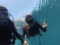 在伊维萨岛潜水开始课程