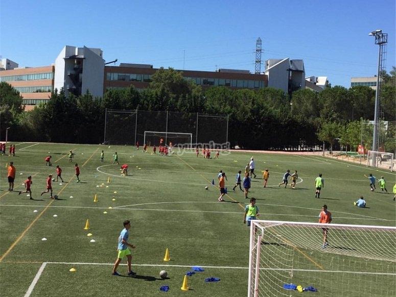 Football training in Barcelona