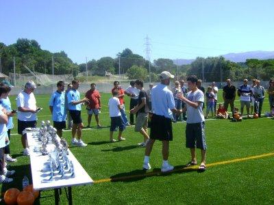 在ValledeHebrón的足球训练营2周