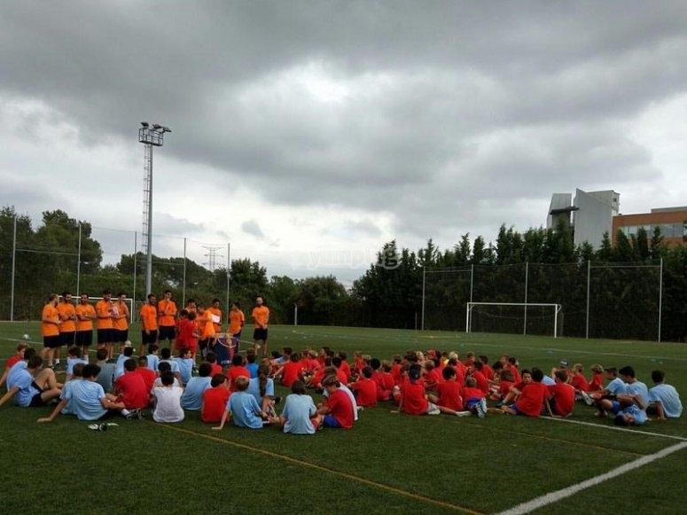 Campamento de futbol en Barcelona