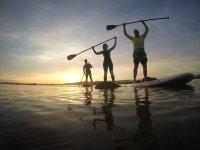Corso di paddle surf sulla spiaggia di Boa Pontevedra