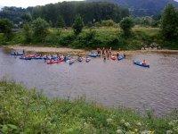 Canoe pronte per la partenza