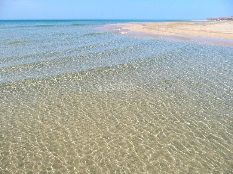水晶般清澈的海水