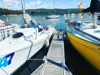 Barcos en el embalse de San Juan