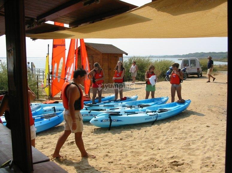 Paddle sur en Huelva