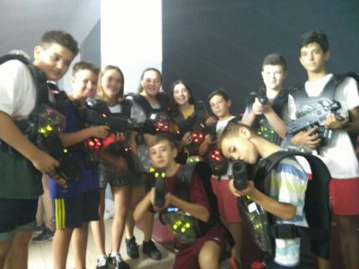 Laser Tag Game in Plaza Utrillas Mall