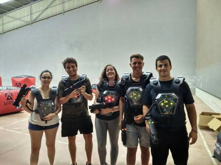 Jugadores de laser tag