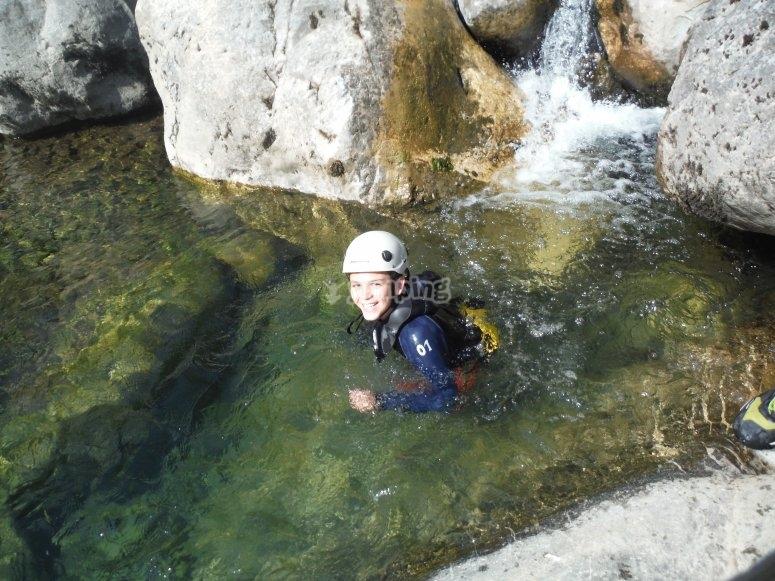 儿童峡谷漂流