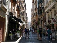 Calle de los encierros en Pamplona