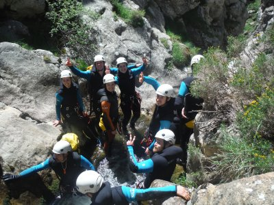 Medium difficulty canyoning in León