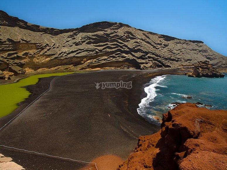 Lago verde El Golfo Lanzarote