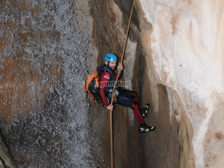 Rappel and canyoning