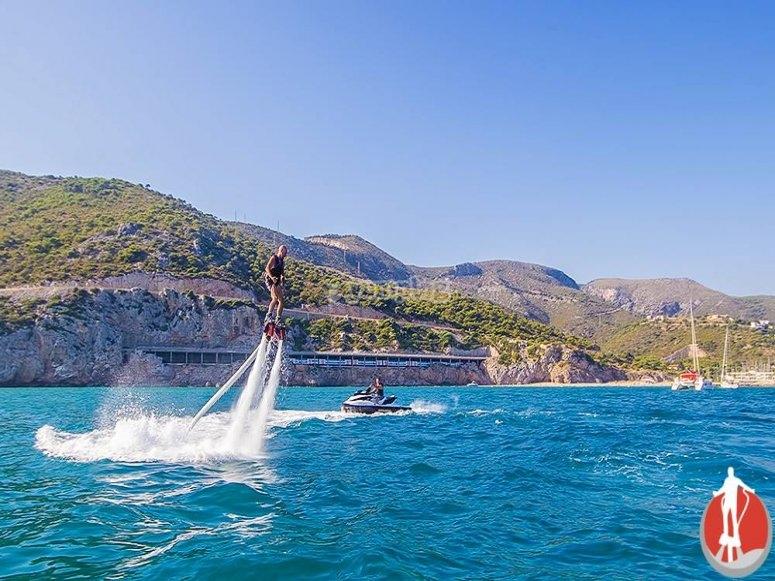 Flyboarding on the Catalonian coast