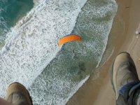 Paraglide landing over Cantabria