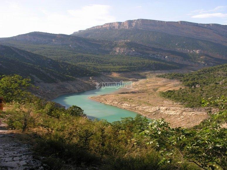 Canelles water reservoir