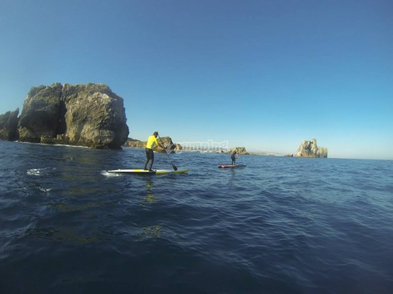 paddle en el mar