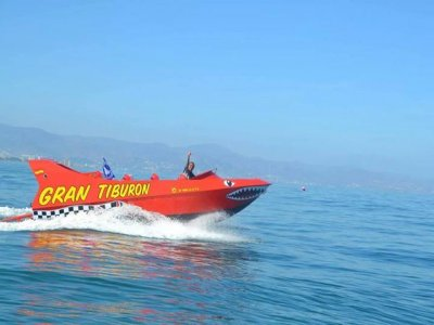 Paseo en jet boat y vídeo en Torremolinos