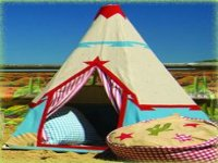 A tipi in our facilities