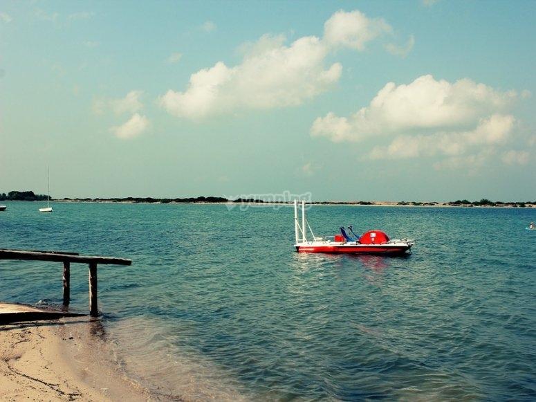 海上水力踏板船