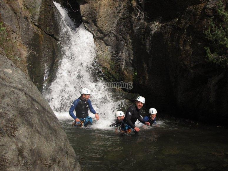 在Alt Pallars练习峡谷
