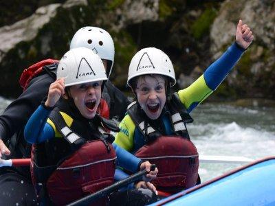 Rafting en Lleida para familias
