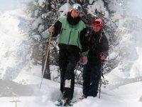 Tempo libero con le ciaspole di neve