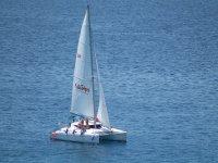 Catamaran navegación a vela en Fuerteventura