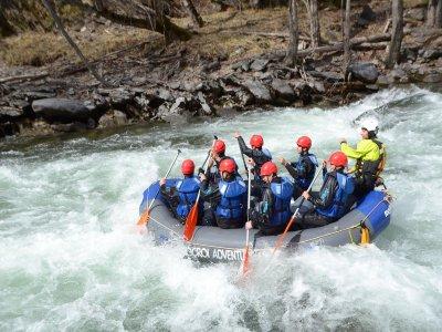 Rafting de 5 km en Llavorsí para niños