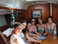 Farewells on the boat