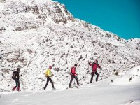 Guided snowshoe route
