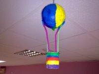 Un globo hecho por los niños